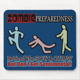 El estado de preparación del zombi Befriend diseño Tapete De Ratones