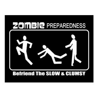 El estado de preparación del zombi Befriend diseño Postal