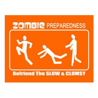 El estado de preparación del zombi Befriend diseño Tarjetas Postales