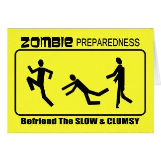 El estado de preparación del zombi Befriend lento  Tarjeta De Felicitación