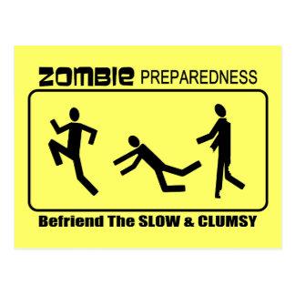 El estado de preparación del zombi Befriend lento Tarjeta Postal