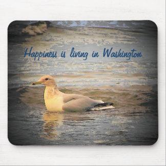 El estado de Washington es felicidad Alfombrilla De Raton