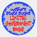 El estado del bienestar chupa a los pegatinas pegatinas redondas