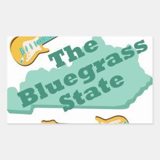 El estado del Bluegrass Pegatina Rectangular