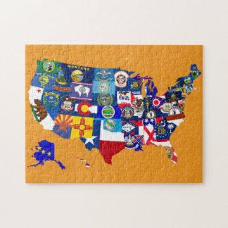 El estado del mapa de los E E U U señala el mosai