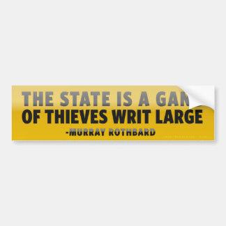 El estado es pegatina para el parachoques de la pegatina para auto