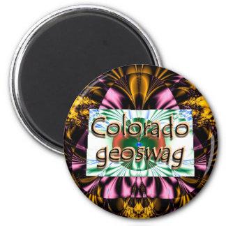 El estado Geocaching de Colorado suministra el Imán Redondo 5 Cm