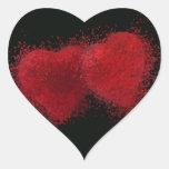 El estallar con amor pegatina corazon personalizadas