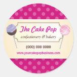El estallido de la torta puntea al pegatina