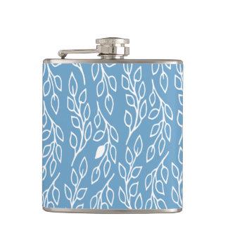 El estallido florece el frasco del azul de las hoj