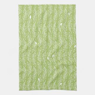 El estallido florece la toalla de té verde de las
