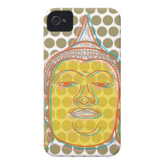 El estallido moderno del zen de Buda puntea la cas iPhone 4 Case-Mate Cárcasa