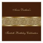 El estampado de animales con clase invita [leopard invitacion personalizada