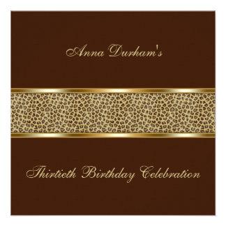 El estampado de animales con clase invita leopard invitacion personalizada