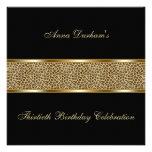 El estampado de animales con clase invita [leopard comunicados personalizados