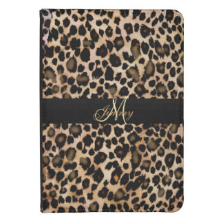 El estampado de animales personalizado leopardo funda para kindle touch