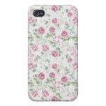 El estampado de flores elegante del vintage de los iPhone 4/4S fundas