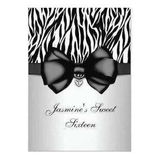 """El estampado de zebra arqueado moda 5 x 7 invita invitación 5"""" x 7"""""""