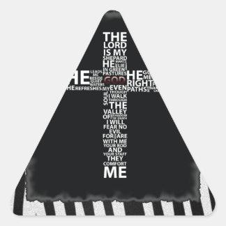 El estampado de zebra cruzado de la palabra añade pegatina triangular