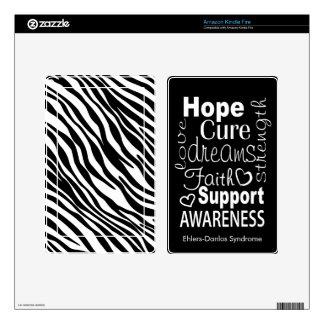 El estampado de zebra de la conciencia del EDS enc Pegatina Skin Para Kindle Fire