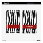 El estampado de zebra enciende mirada roja de la c kindle fire pegatinas skins