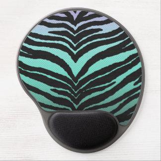 El estampado de zebra femenino de moda se alfombrilla gel