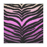 El estampado de zebra femenino de moda se descolor