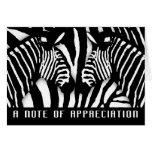 El estampado de zebra moderno le agradece en blanc