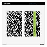 El estampado de zebra personalizado elegante encie kindle fire pegatina skin