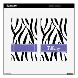 El estampado de zebra púrpura enciende la piel del skins para kindle fire