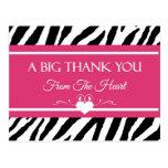 El estampado de zebra rosado y negro le agradece d postales