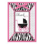 El estampado de zebra y el carro de bebé le agrade anuncio personalizado