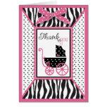 El estampado de zebra y el carro de bebé le agrade tarjetas