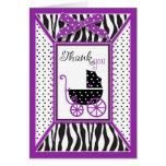 El estampado de zebra y el carro de bebé le agrade felicitación