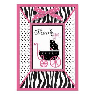 El estampado de zebra y el carro de bebé le agrade tarjeta de visita