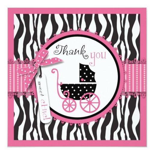 El estampado de zebra y el carro de bebé le anuncios personalizados