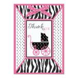 El estampado de zebra y el carro de bebé le comunicado