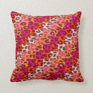 El estampado leopardo colorido ajusta el modelo 10 cojín