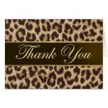 El estampado leopardo le agradece cardar felicitaciones