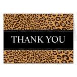 El estampado leopardo/naturales/le agradece las ta