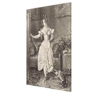 El Estancia-cordón, grabado por Alfred León Lemerc Impresiones En Lona Estiradas