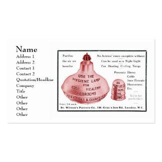 El estándar de la lámpara de la higiene tarjetas de visita