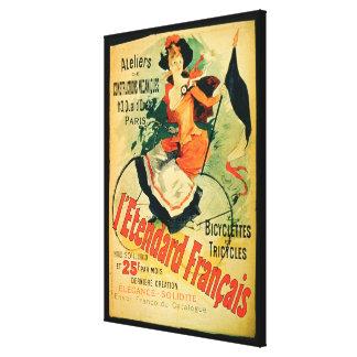 """""""El estándar francés"""", publicidad de poster 'comió Impresión En Lienzo"""