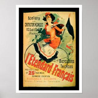 """""""El estándar francés"""", publicidad de poster 'comió Póster"""