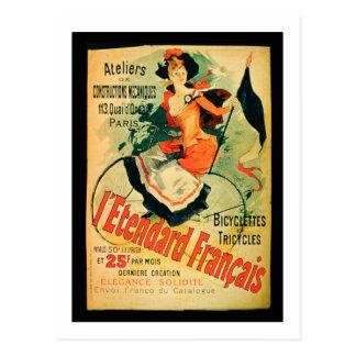 """""""El estándar francés"""", publicidad de poster 'comió Postal"""
