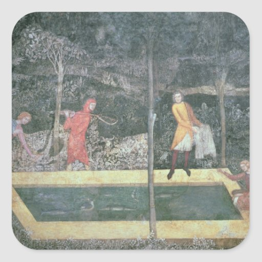 El estanque de peces, del cuarto del macho, 1343 colcomanias cuadradases