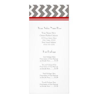 El estante de encargo del salón carda Chevron gris Diseños De Tarjetas Publicitarias