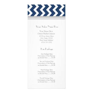 El estante de encargo del salón carda el gris azul diseño de tarjeta publicitaria