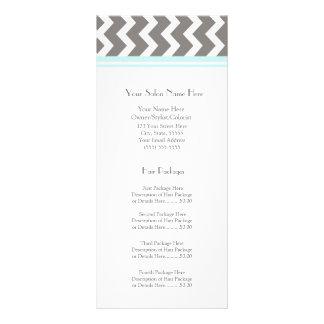 El estante de encargo del salón carda el gris Chev Tarjeta Publicitaria Personalizada