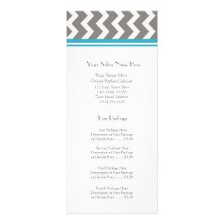 El estante de encargo del salón carda el gris Chev Diseño De Tarjeta Publicitaria